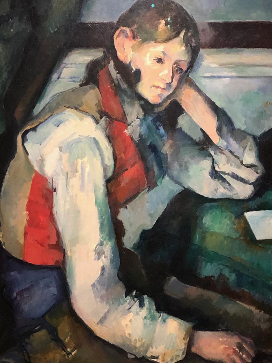 Paul Cézanne Le Garçon au Gilet Rouge 1888/90