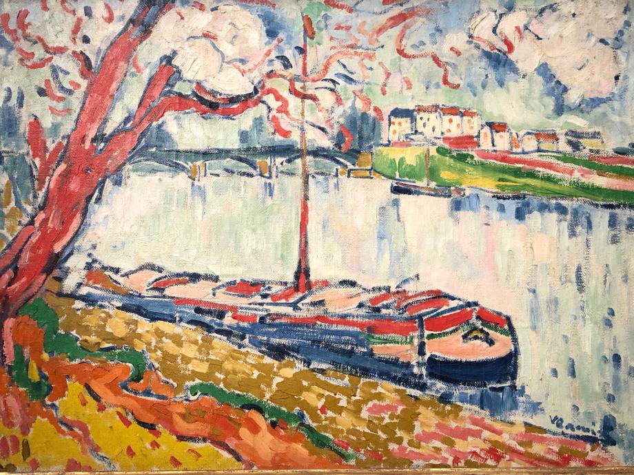 Maurice de Vlaminck Chaland sur la Seine au Pecq 1906 de Vlaminck est un des piliers du Fauvisme avec Derain et Matisse