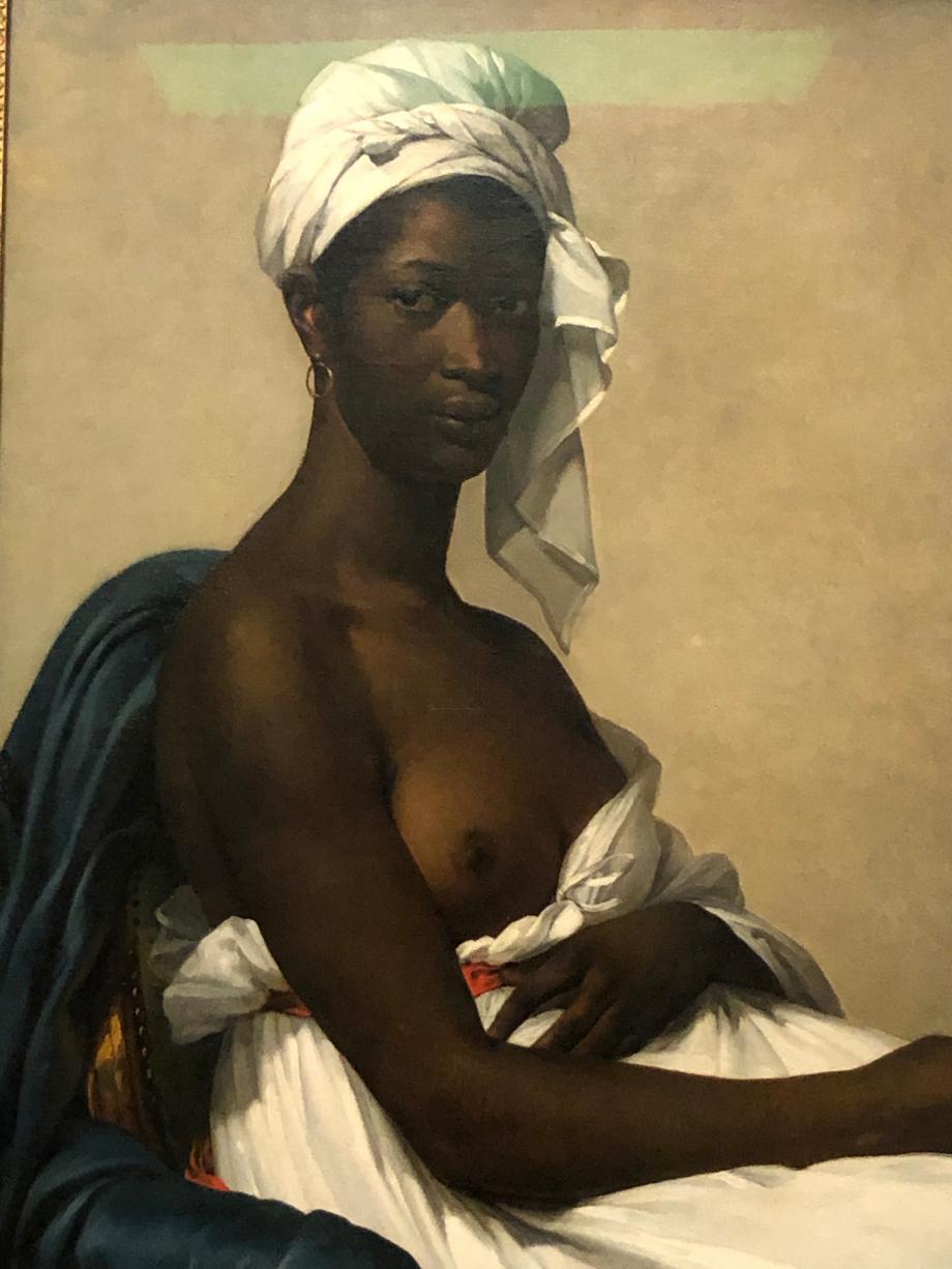 Marie Guillemine Benoist Portrait de Madeleine dit aussi Portrait d'une femme noire présenté au Salon de 1800 sous le titre  Portrait d'une négresse 1800 Musée du Louvre, Paris