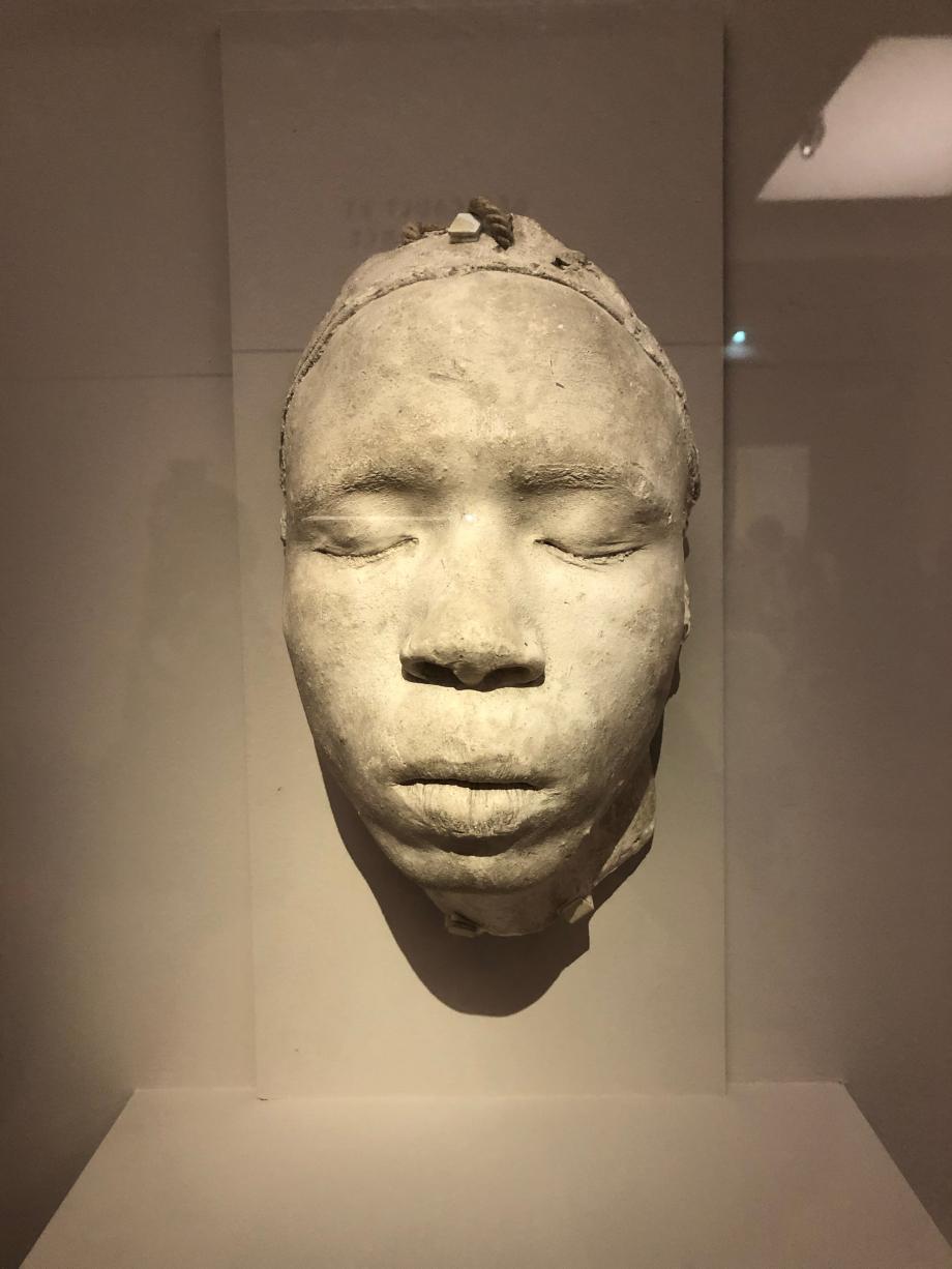 Adolphe-Victor Geoffroy-Dechaume Moulage sur nature du visage de Joseph dit aussi Moulage sur nature d'un visage masculin noir Entre 1834 et 1838 Cité de l'Architecture et du Patrimoine, Paris