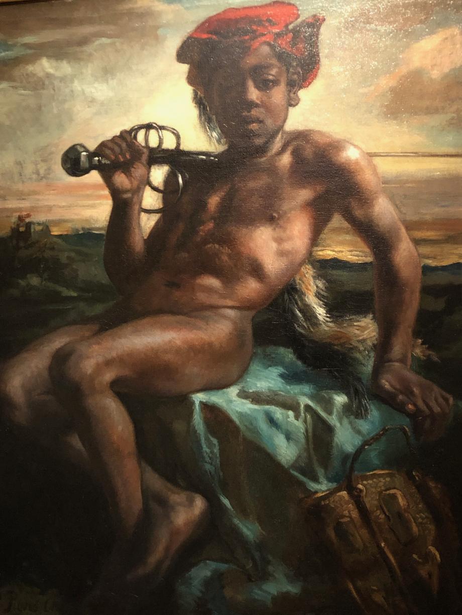 Pierre Puvis de Chavannes Jeune noir à l'épée 1848 1849 Musée d'Orsay, Paris