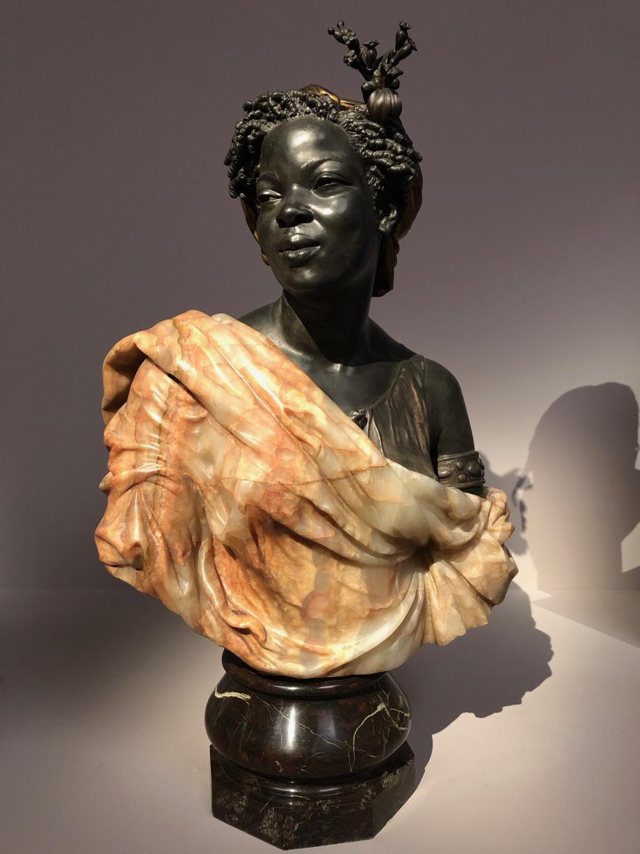 Charles Cordier Femme des colonies présenté au Salon de 1861 sous le titre La Câpresse ou Négresse des colonies 1861 Musée d'Orsay, Paris