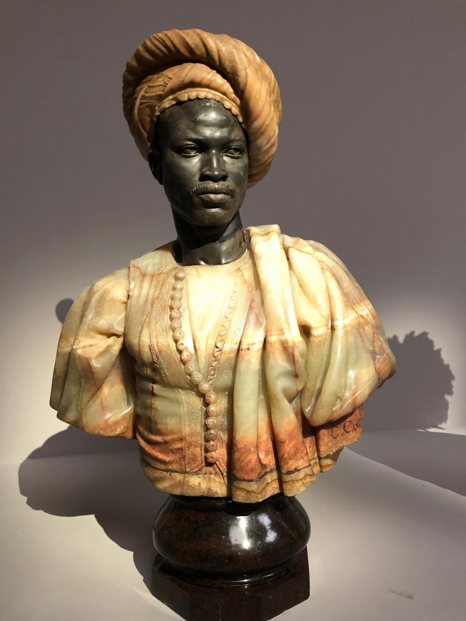 Charles Cordier Homme du Soudan Français présenté au Salon de 1857 sous le titre Buste de Nègre du Soudan 1857 Musée d'Orsay, Paris