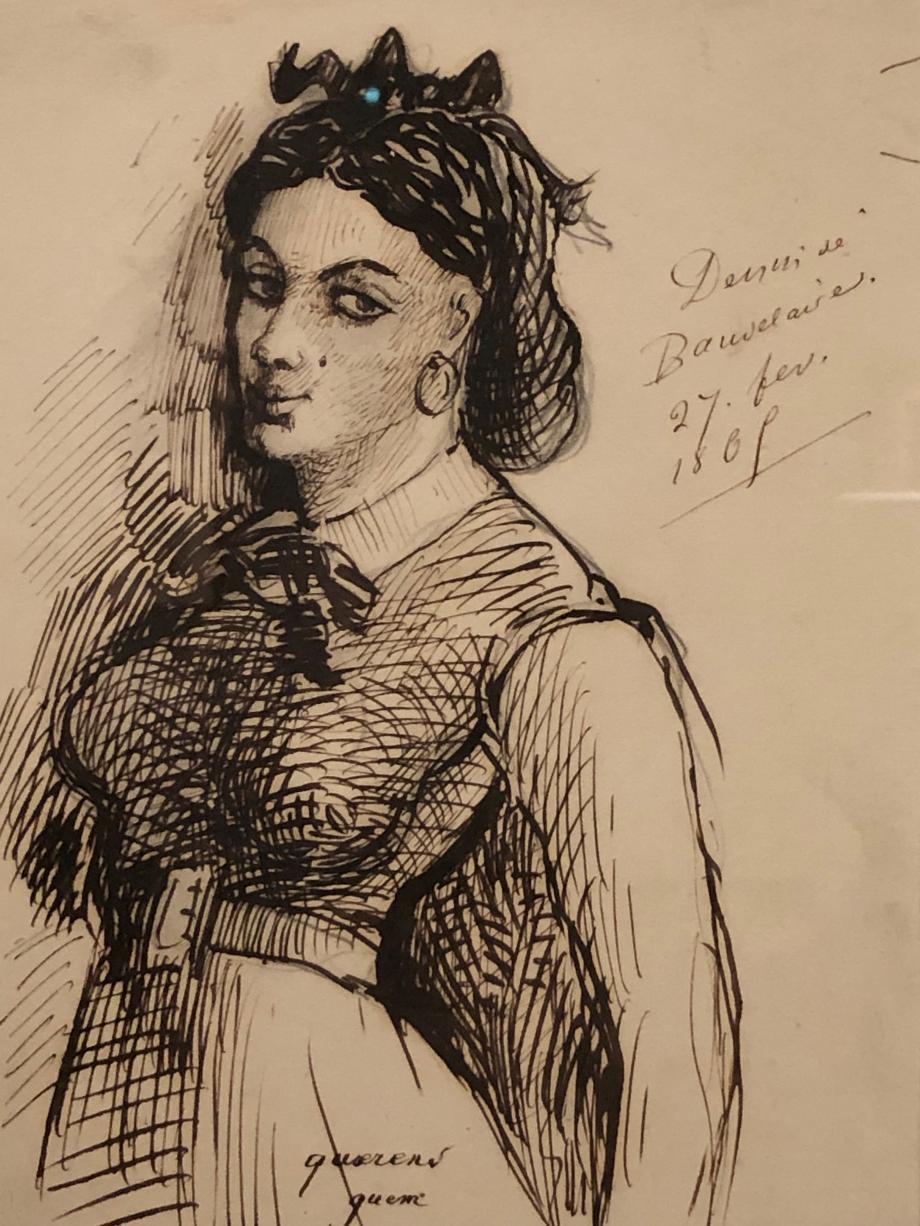 Charles Baudelaire Portrait de Jeanne Duval 1865 Musée d'Orsay, Paris