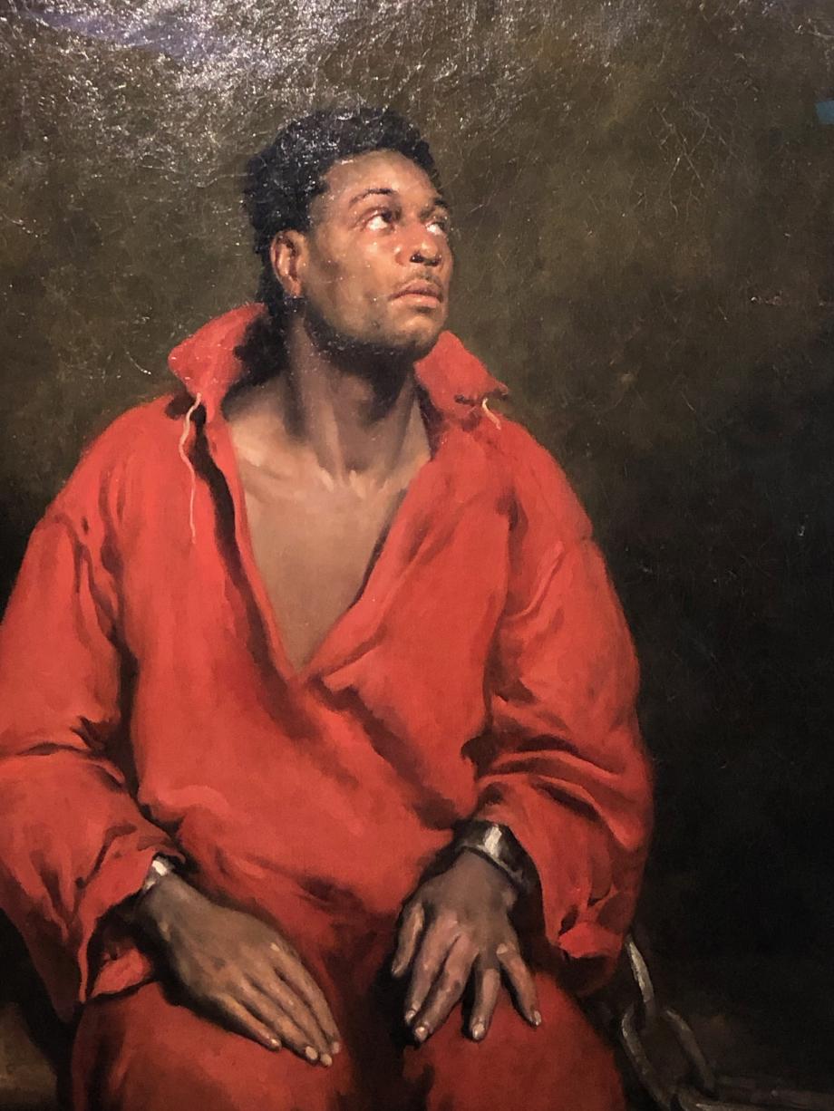 John Philip Simpson L'esclave captif (portrait de Ira Aldridge ?) 1827 Art Institue of Chicago  Mon tableau préféré de l'exposition