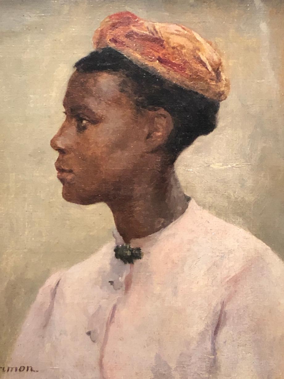 Fernand Cormon Jeune femme de profil dit aussi jeune africaine ou jeune nègre Quatrième quart du XIXème siècle Musée des Beaux-Arts, Pau