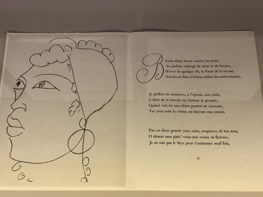 Henri Matisse illustrations pour Les Fleurs du Mal - Parfum Exotique Le Cateau-Cambrésis, musée départemental Matisse ; donation de l'artiste en 1952