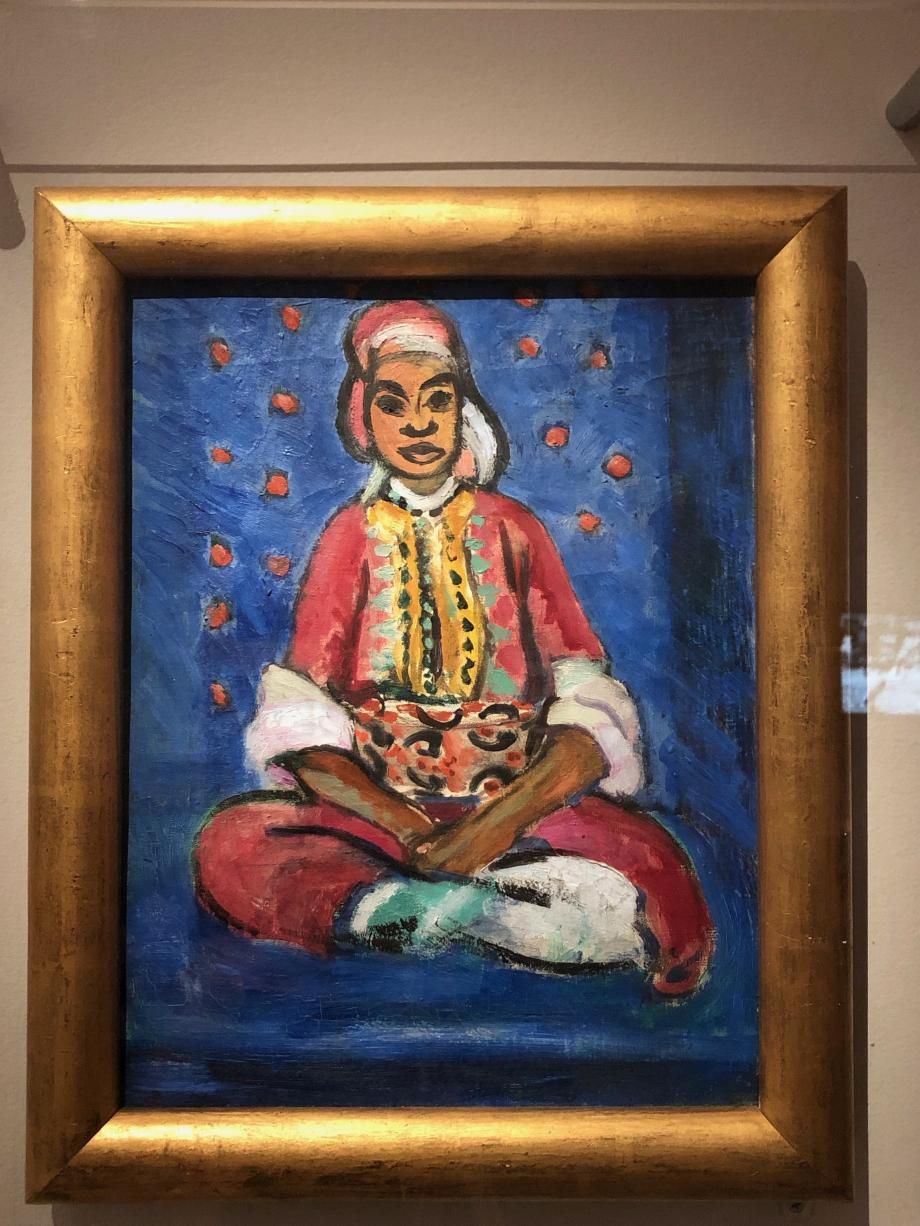 Henri Matisse Portrait de Fatmah dit aussi Petite Mulâtresse, présenté à l'exposition Henri Matisse, Tableaux du Maroc et Sculptures, à la Galerie Bernheim-Jeune en 1913 sous le signe La Mulâtresse Fatmah 1912 Musée de Grenoble