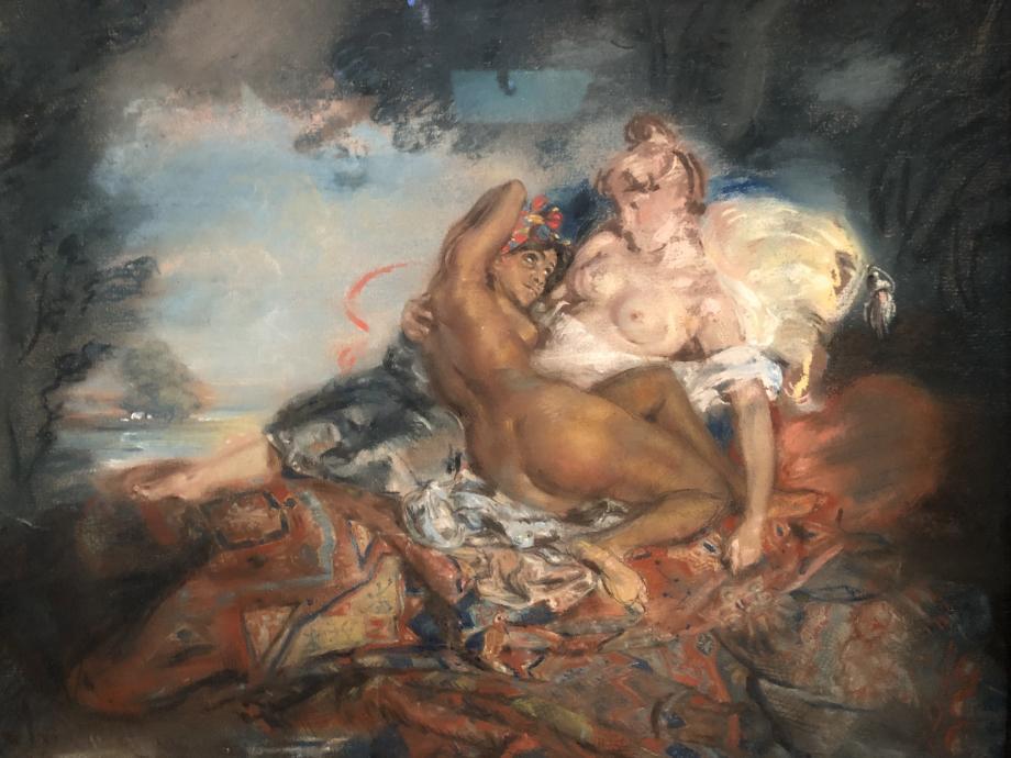 Jules-Robert Auguste Deux femmes dénudées dit aussi L'Afrique et l'Europe vers 1825 1830 Musée du Quai Branly, Paris