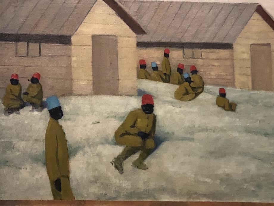 Félix Valloton Les tirailleurs sénégalais au Camp de Mailly 1917 Beauvais, MUDO - musée de l'oise