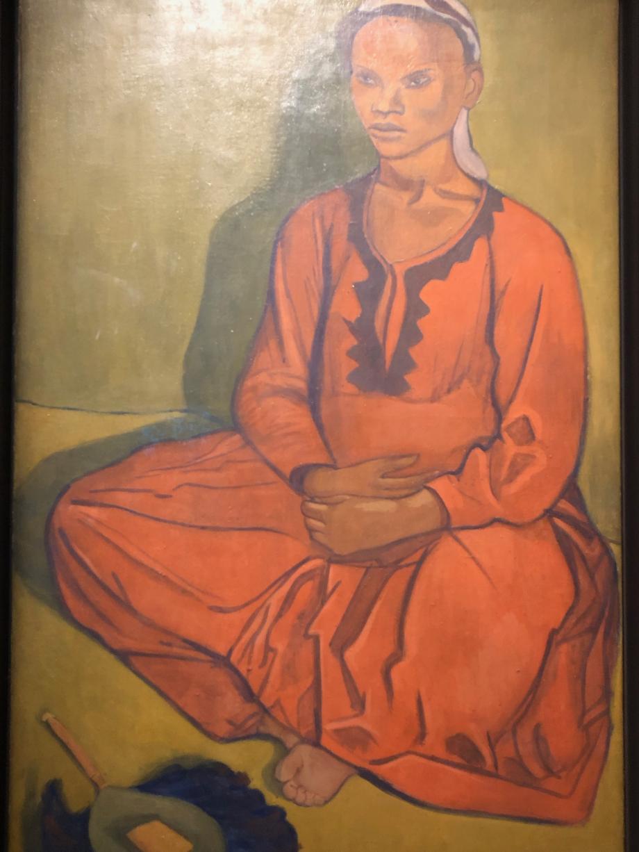 Emile Bernard Portrait d'une femme initialement intitulé Etude de Négresse 1895 Musée du Quai Branly, Paris