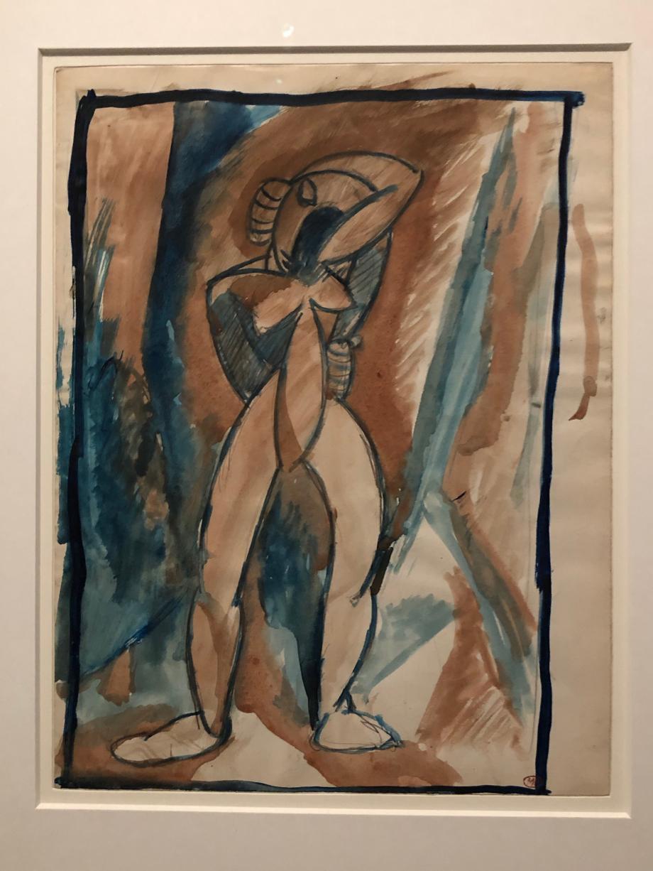 Pablo Picasso Etude pour nu debout début 1908 Musée national Picasso, Paris