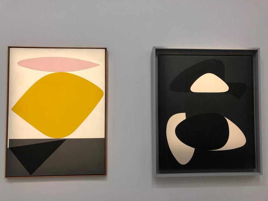 A gauche : Sauzon, 1950 - collection particulière A droite : Kerrhon, 1953 1954 - Musées Royaux des beaux-arts de Belgique, Bruxelles