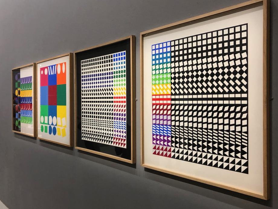 Etudes de la série Unités Plastiques, 1975 Fondation Vasarely, Aix-en-Provence