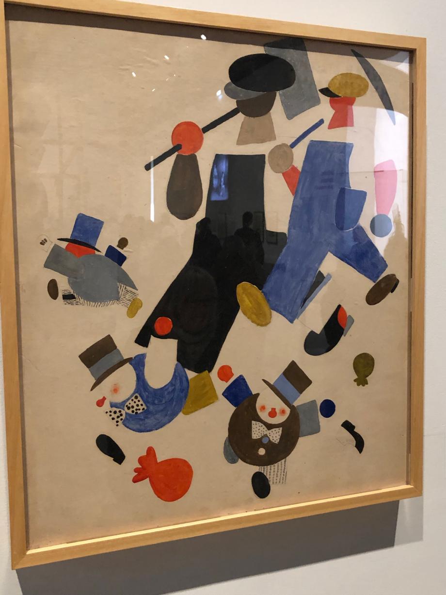 Vladimir Lebedev Le fantôme rouge du communisme se déplace à travers l'Europe Moscou, Galerie nationale Tretiakov