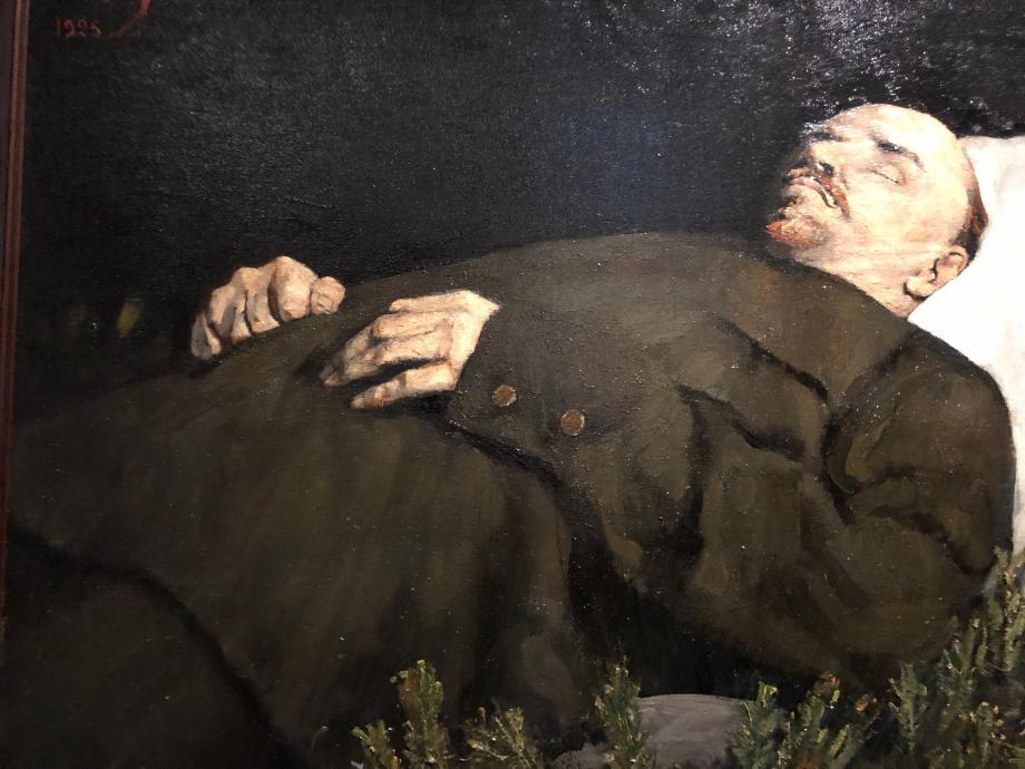 Sergueï Malloutine Lénine sur son lit de mort Moscou, musée d'art d'histoire