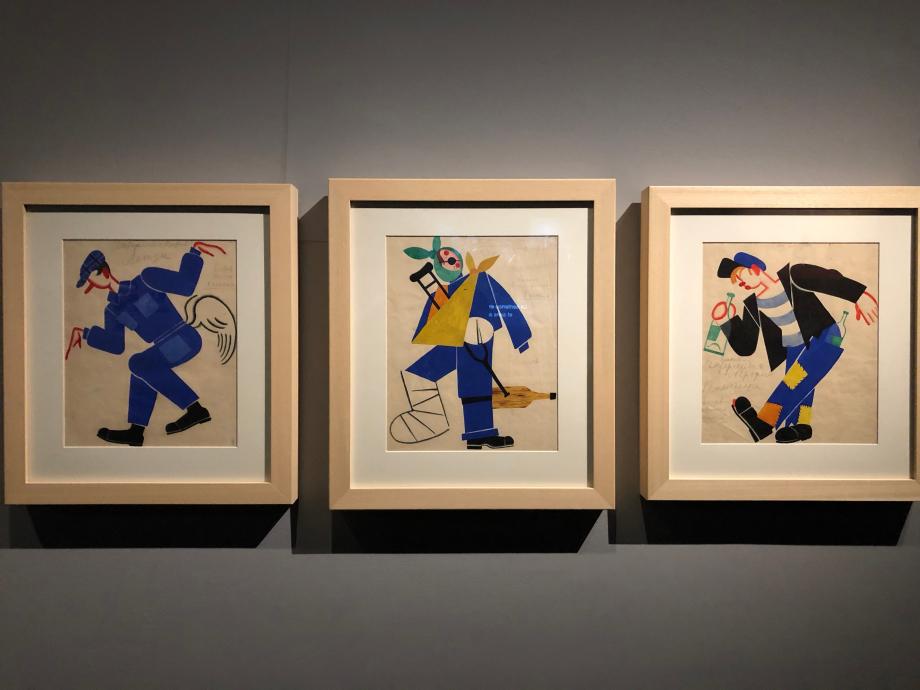 Etudes de costumes d'homme pour le Boulon, ballet de D. Chostakovitch