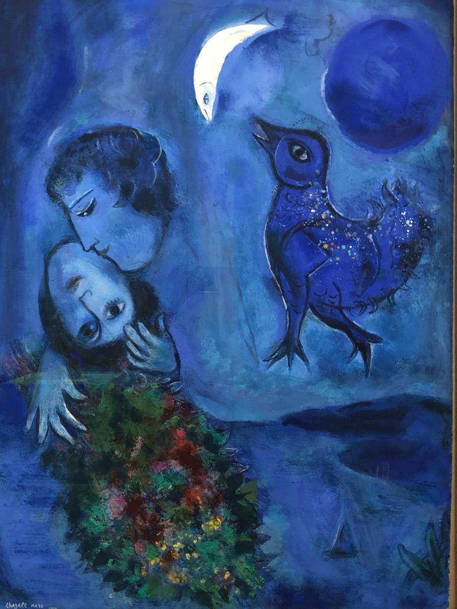 Marc Chagall Le paysage bleu, 1949 Wuppertal, Von Der Heydt Museum
