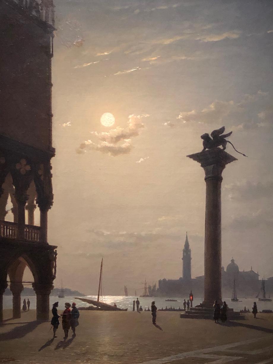 Clair de lune sur la Piazzeta San Marco à Venise
