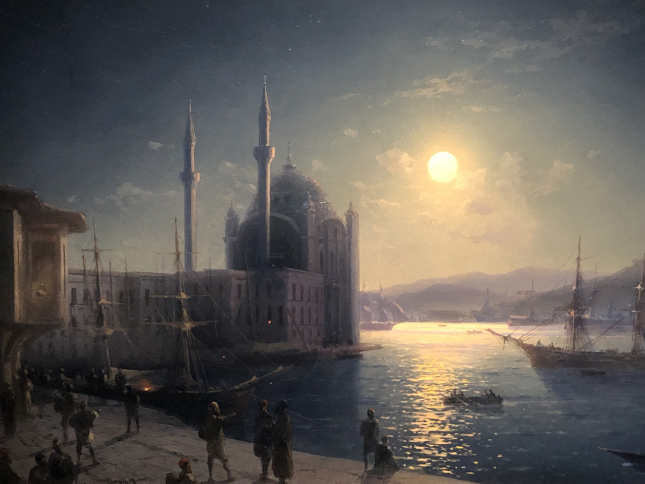 Ivan AÏvasovsky Clair de lune, Bosphore, 1894 Moscou, Galerie Tretiskov