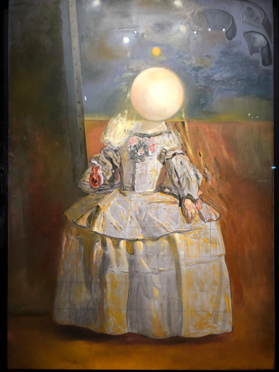 Salvador Dali La Perle, d'après l'Infante Margarita d'Autriche de Velazquez, vers 1981 Figueras, Fondation Gala-Salvador Dali