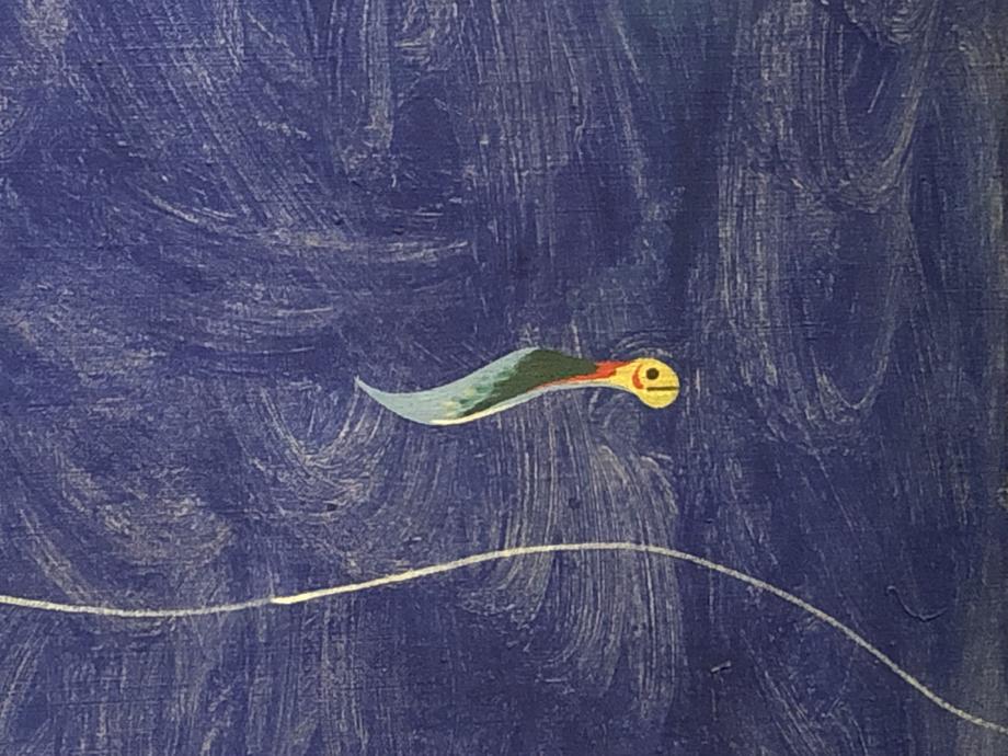 Détail sur le joli petit poisson du tableau de Miro