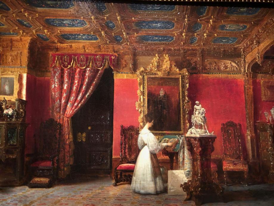 Prosper Lafaye Salon de la Princesse Marie aux Tuileries - Vers 1838