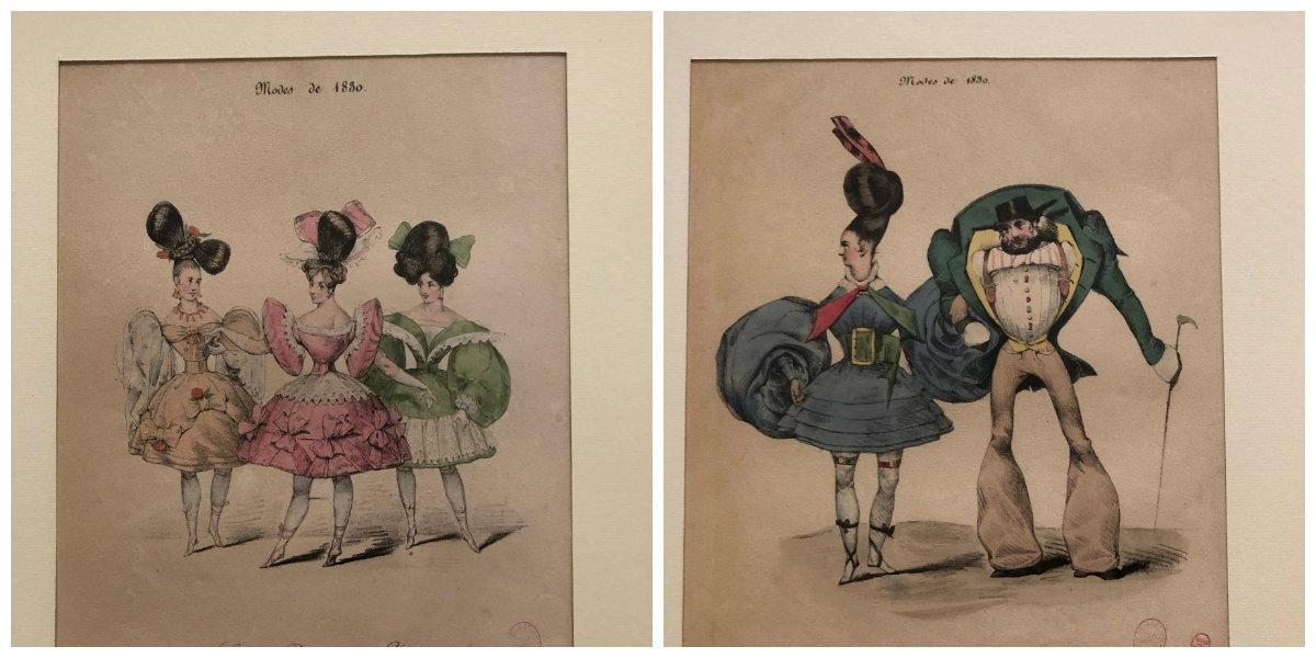 Gérard Fontallard Bulletin des modes ridicules les modes de cette période prêtaient à la satire