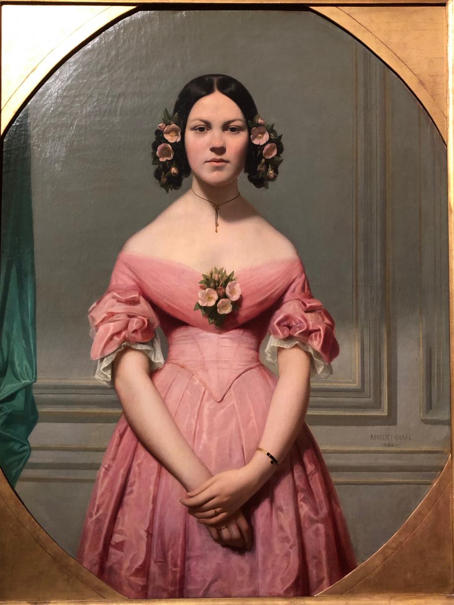 Eugène Amaury-Duval Portrait d'Isaure Chassériau - 1838 Salon de 1839  Rennes, Musée des Beaux-Arts
