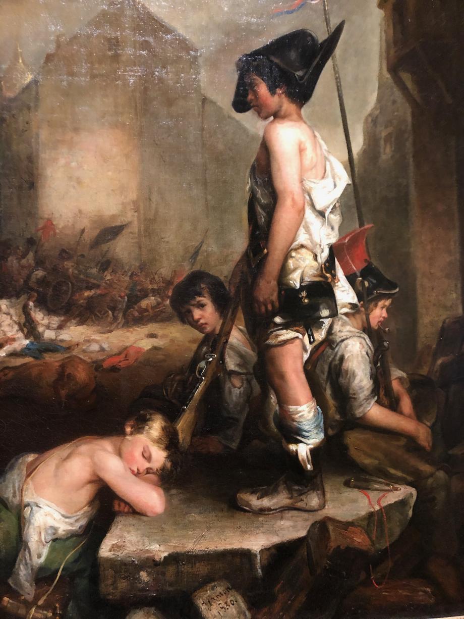 Auguste Jeanron Les petits patriotes - 1830 Salon de 1831  Caen, Musée des Beaux-Arts