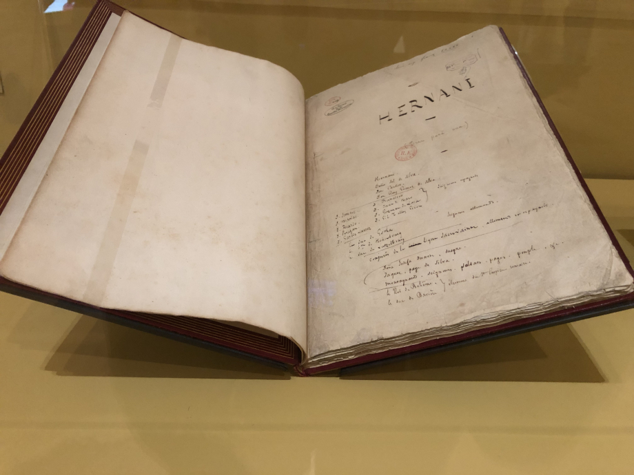 Victor Hugo Hernani - 1829 Manuscrit autographe  Paris, Comédie Française