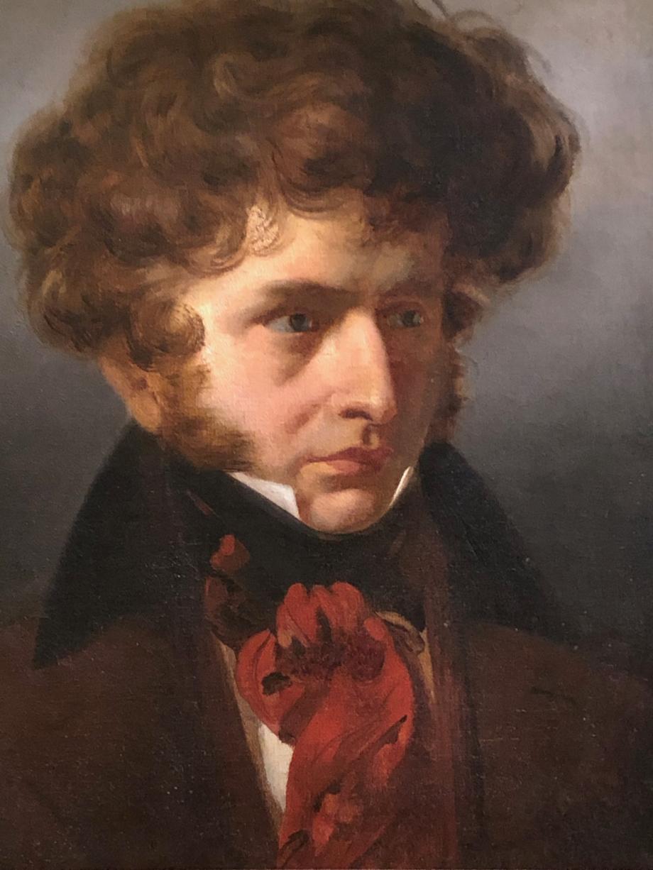 François-Xavier Dupré Hector Berlioz - 1830  Italie, Rome, Académie de France, Villa Médicis