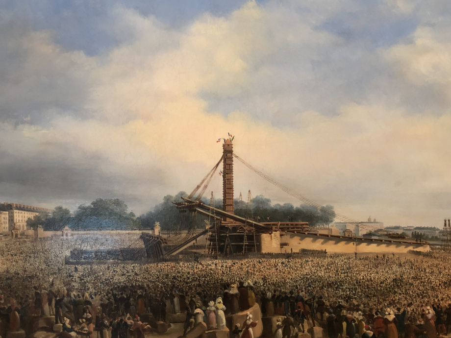 François Dubois Erection de l'obélisque de Louxor sur la place de la Concorde le 25 octobre 1836  Paris, Musée Carnavalet-Histoire de Paris