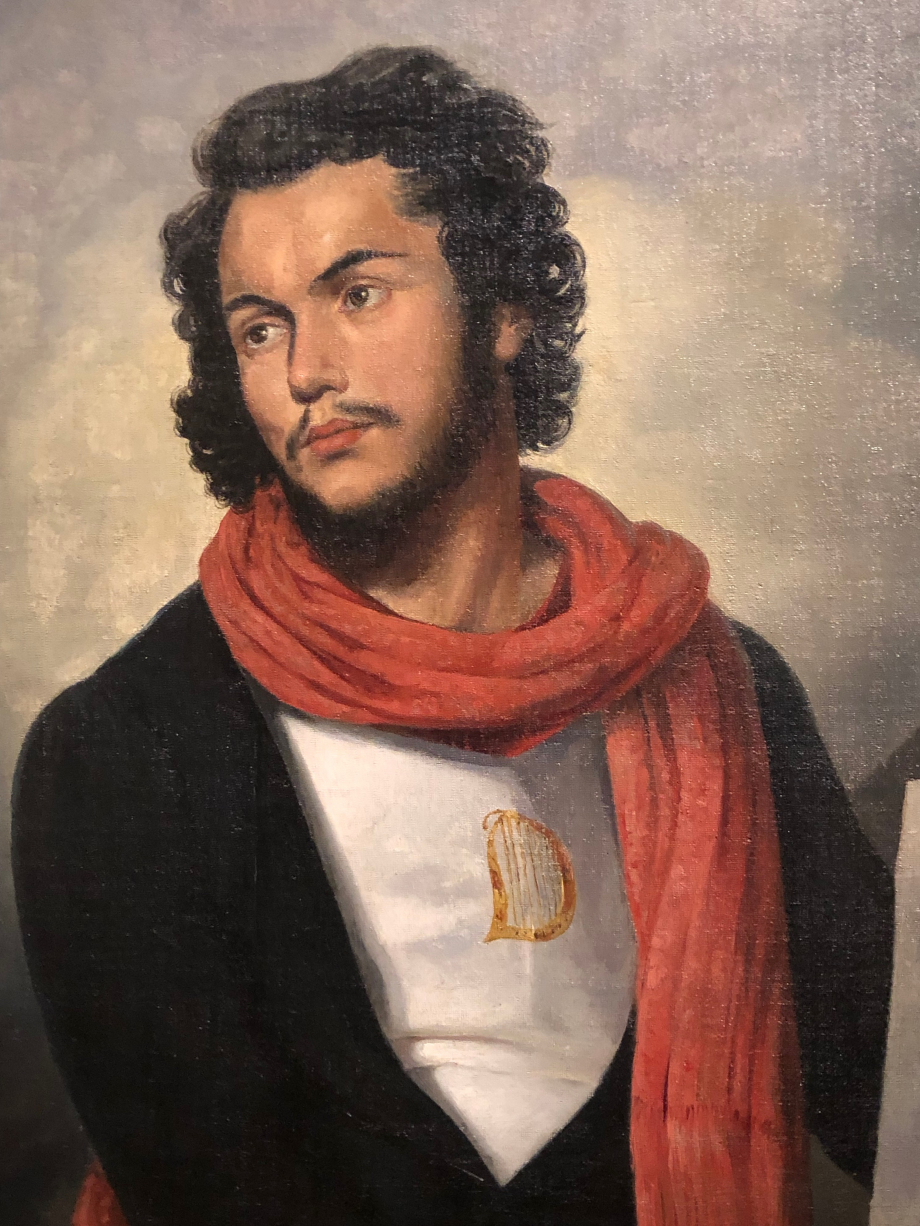 N'est-il pas beau ce jeune homme ?  Raymond Bonheur Félicien David, compositeur en costume saint-simonien - vers 1832  Saint-Germain-en-Laye, musée municipal
