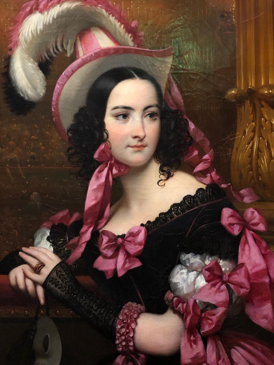 Joseph-Désiré Court La loge ou la Vénitienne au bal masqué - 1837  Très jolie femme