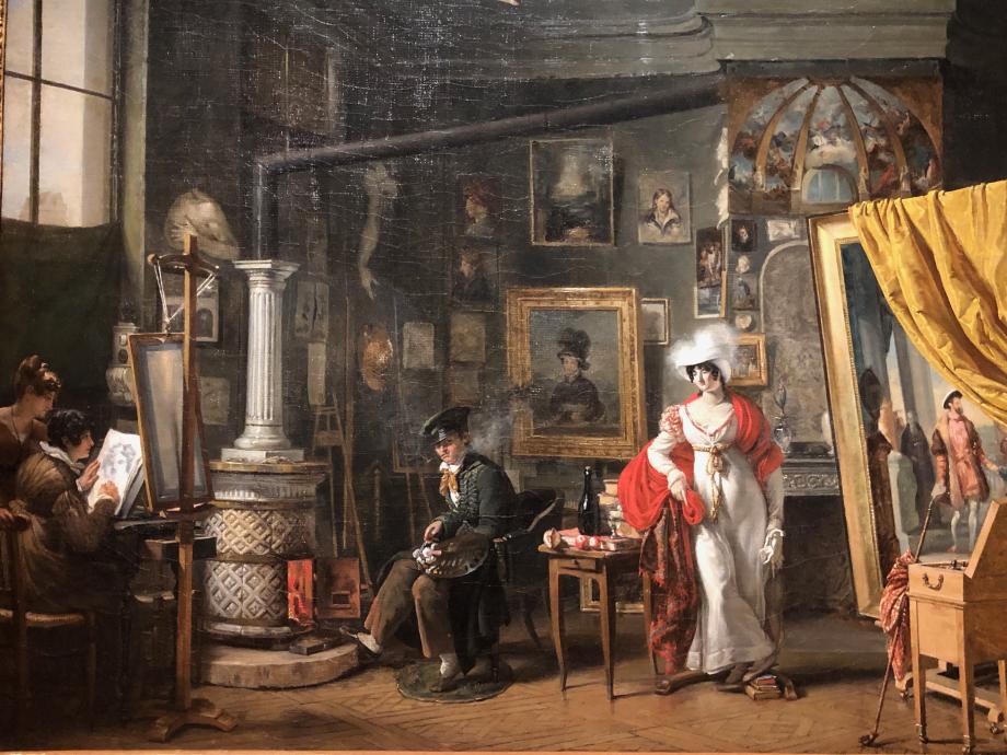 T.B Bitter L'atelier du peintre vers 1820  Paris, Musée Carnavalet-Histoire de Paris