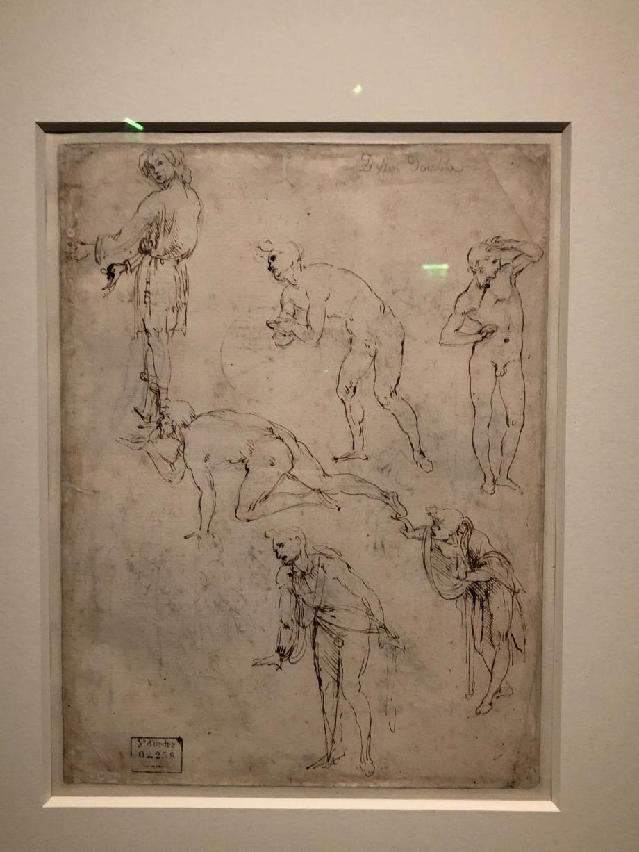 Léonard de Vinci Etudes de personnages pour l'Adoration des Mages vers 1480 1481 Paris, Musée du Louvre
