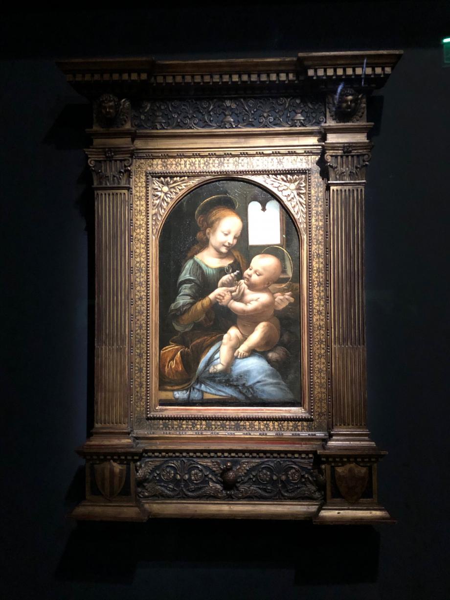 Léonard de Vinci La Vierge à l'Enfant dit Madone Benois vers 1480 1482 Saint Petersbourg, Musée de l'Ermitage