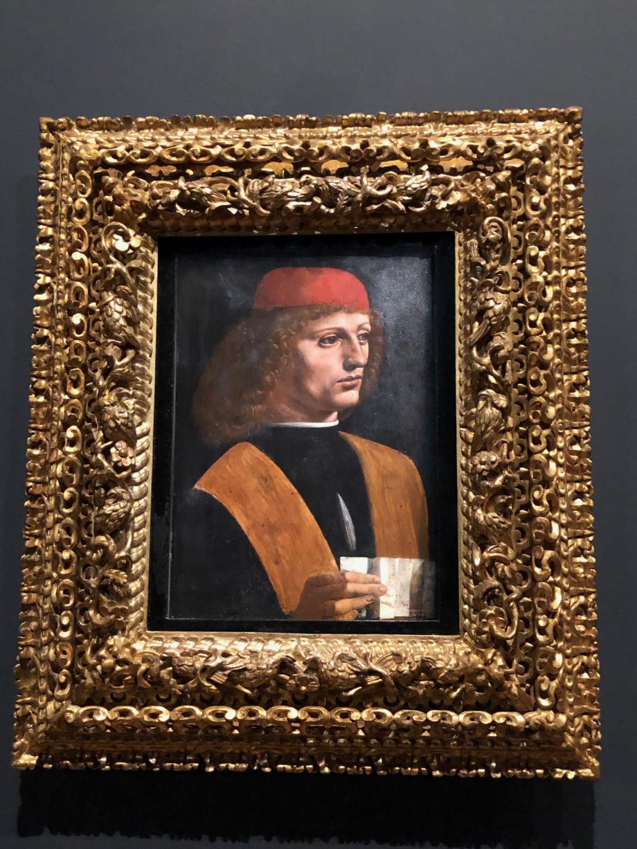 Léonard de Vinci Portrait de jeune homme tenant une partition dit Le Musicien vers 1483 1490 Milan, Pinacoteca Ambrosiana