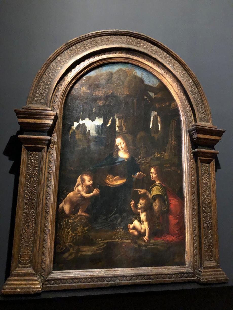 Leonard de Vinci La Vierge à l'Enfant avec Saint Jean Baptiste et un ange, dite Vierge aux rochers vers 1483 1494 Paris, Musée du Louvre