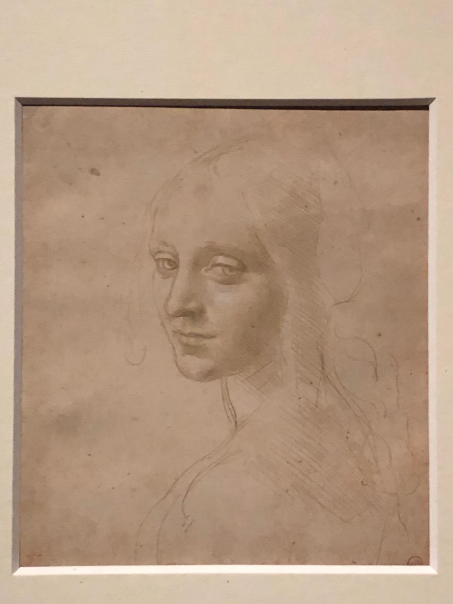 Léonard de Vinci Etude de figure pour l'ange de la Vierge aux rochers vers 1490 1494 Turin, Biblioteca Reale