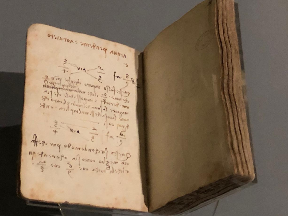 Léonard de Vinci Léonard conteste la règle de division d'une fraction par une fraction vers 1497 1502/1504 Paris, Institut de France