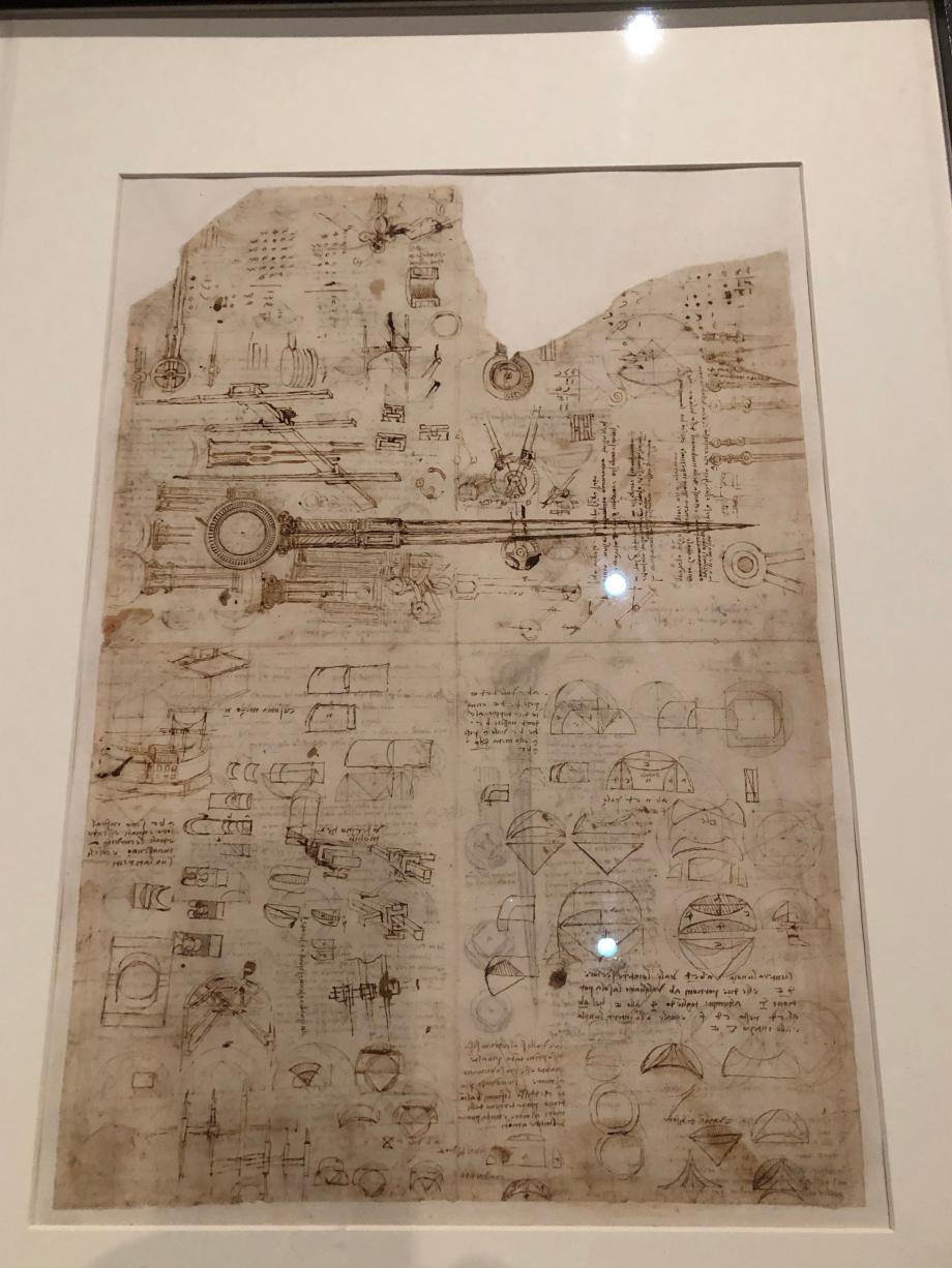 Léonard de Vinci Compas, quadatures et opérations diverses vers 1513 1516 Milan, Biblioteca Ambrosiana, Codex Atlanticus