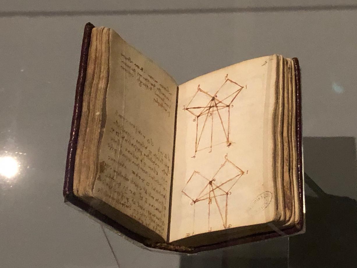 Léonard de Vinci La démonstration euclidienne du théorème de pythagore vers 1503 1507 Paris, Institut de France