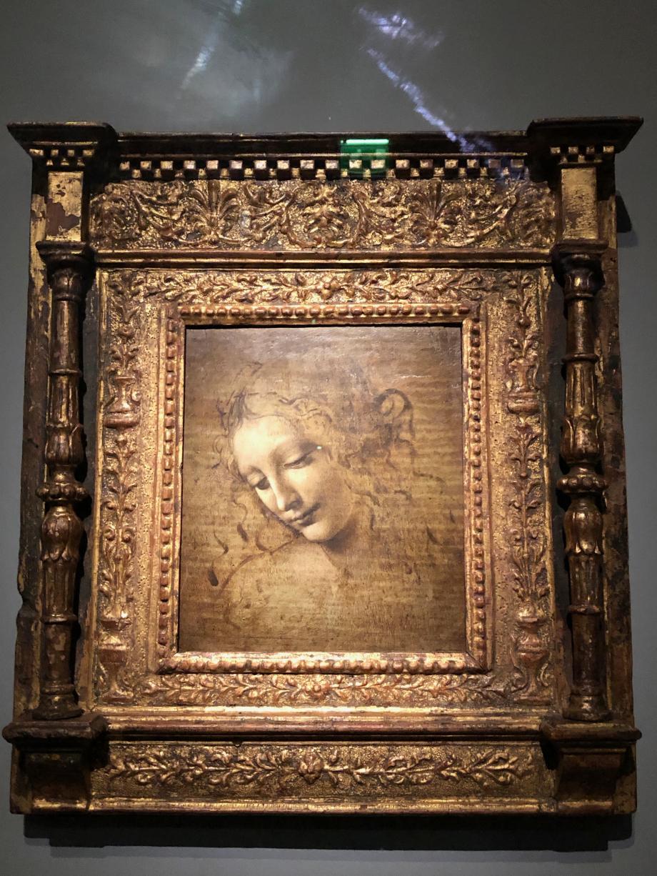 Léonard de Vinci Tête de femme, dite La Scapiliata - L'Échevelée vers 1500 1510
