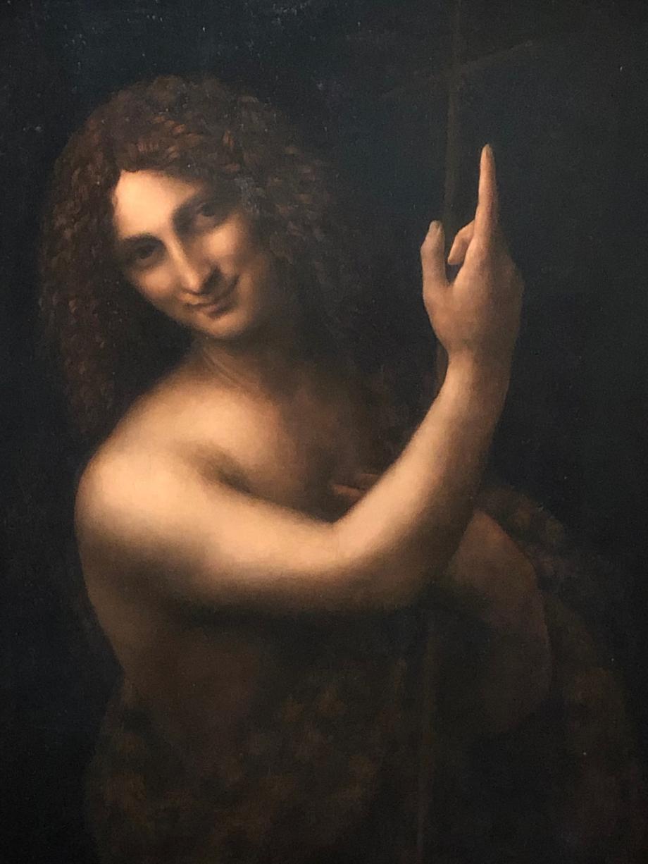 La figure du Baptiste est l'expression d'une beauté idéale, qui garde encore quelque chose de la pureté de l'adolescence dans la force de l'âge adulte.