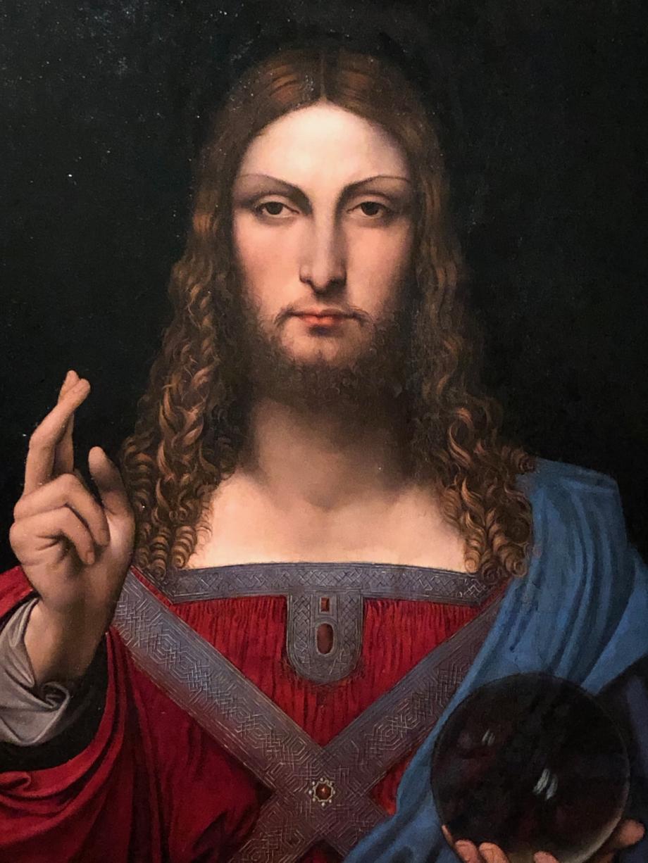 Cette version de Salvator Mundi fut certainement peinte par un élève de Léonard et sous la direction du Maître.