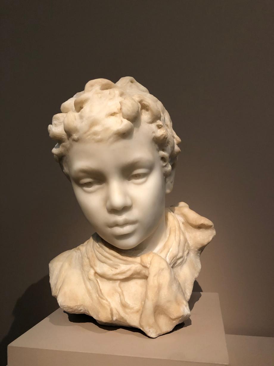 Tête d'enfant : garçon 1870