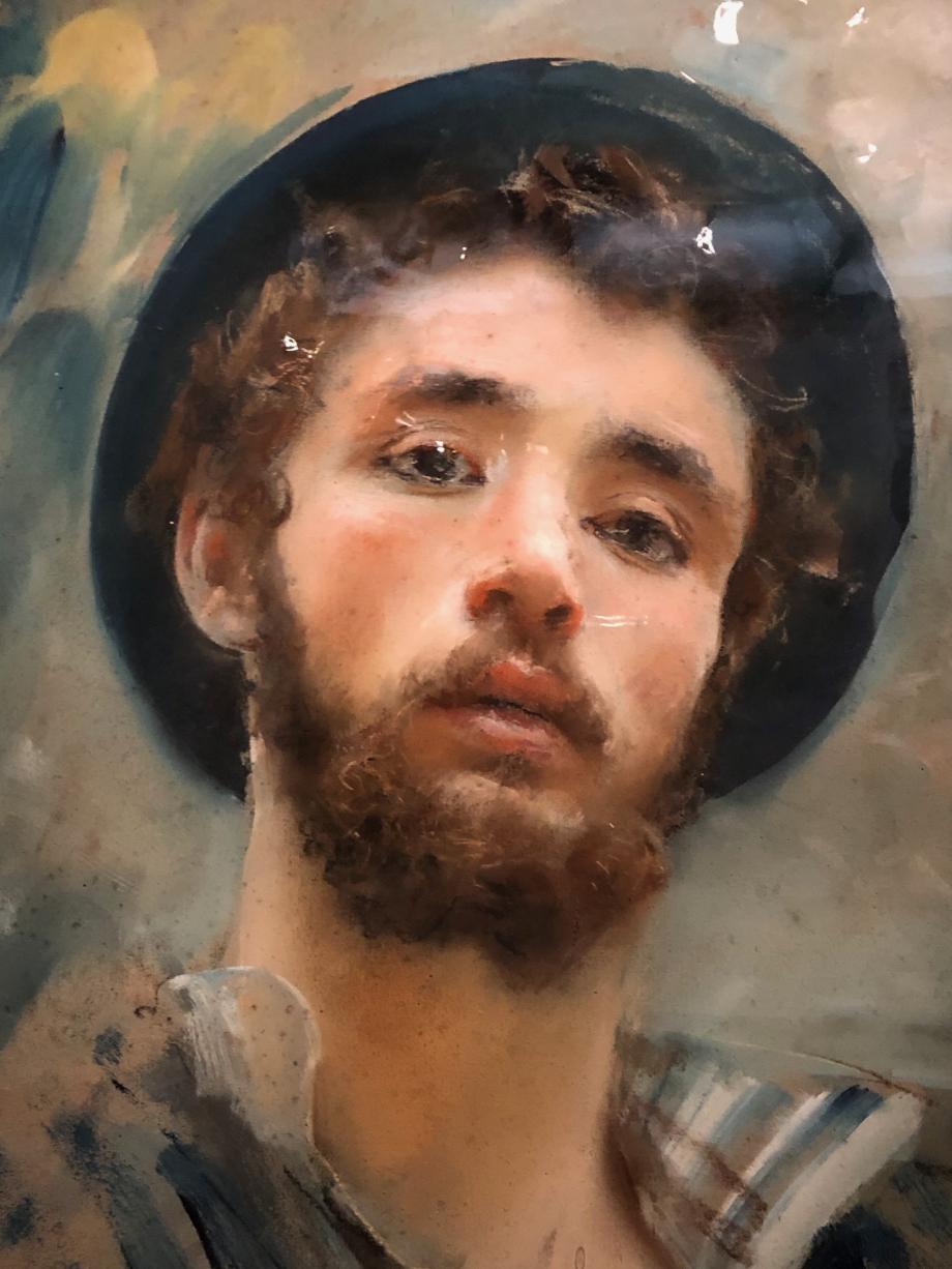 Francesco Paolo Michetti Autoportrait juvénile vers 1877