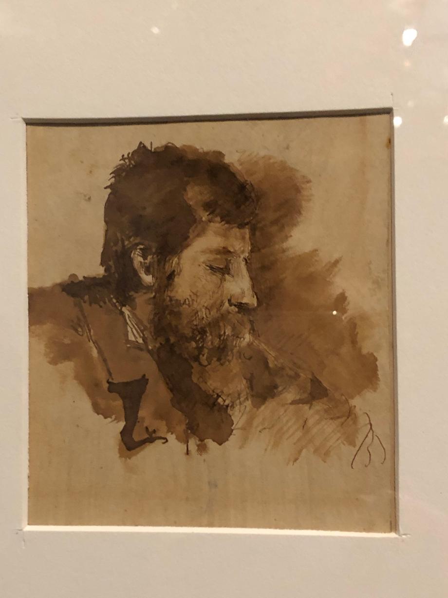 Autoportrait de profil